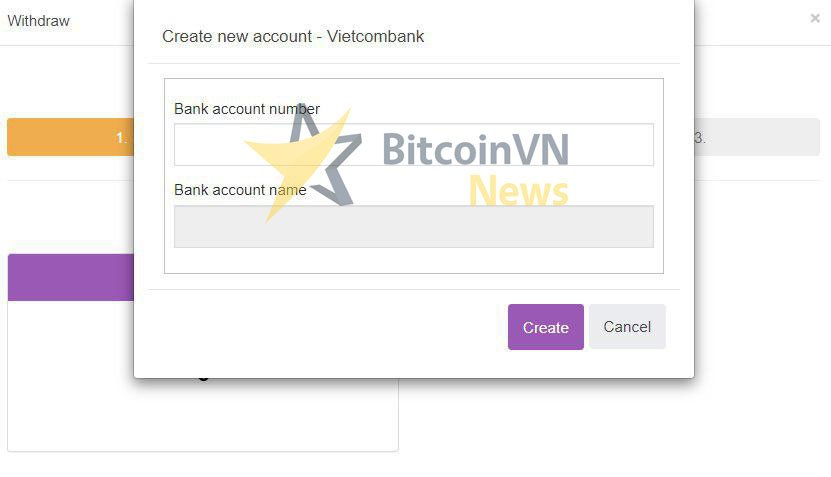 Your bank account detail