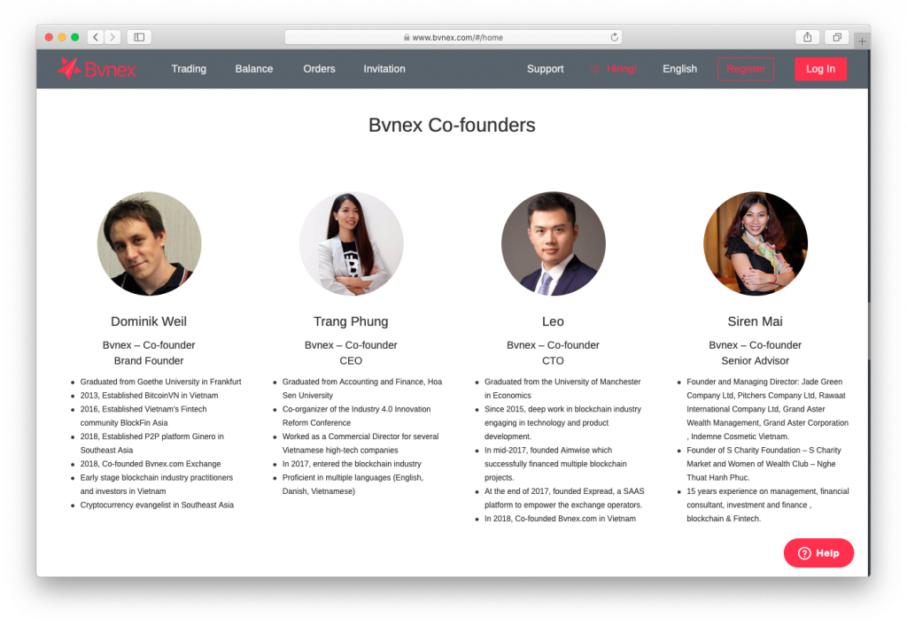 "BVnex ""co-founders"""