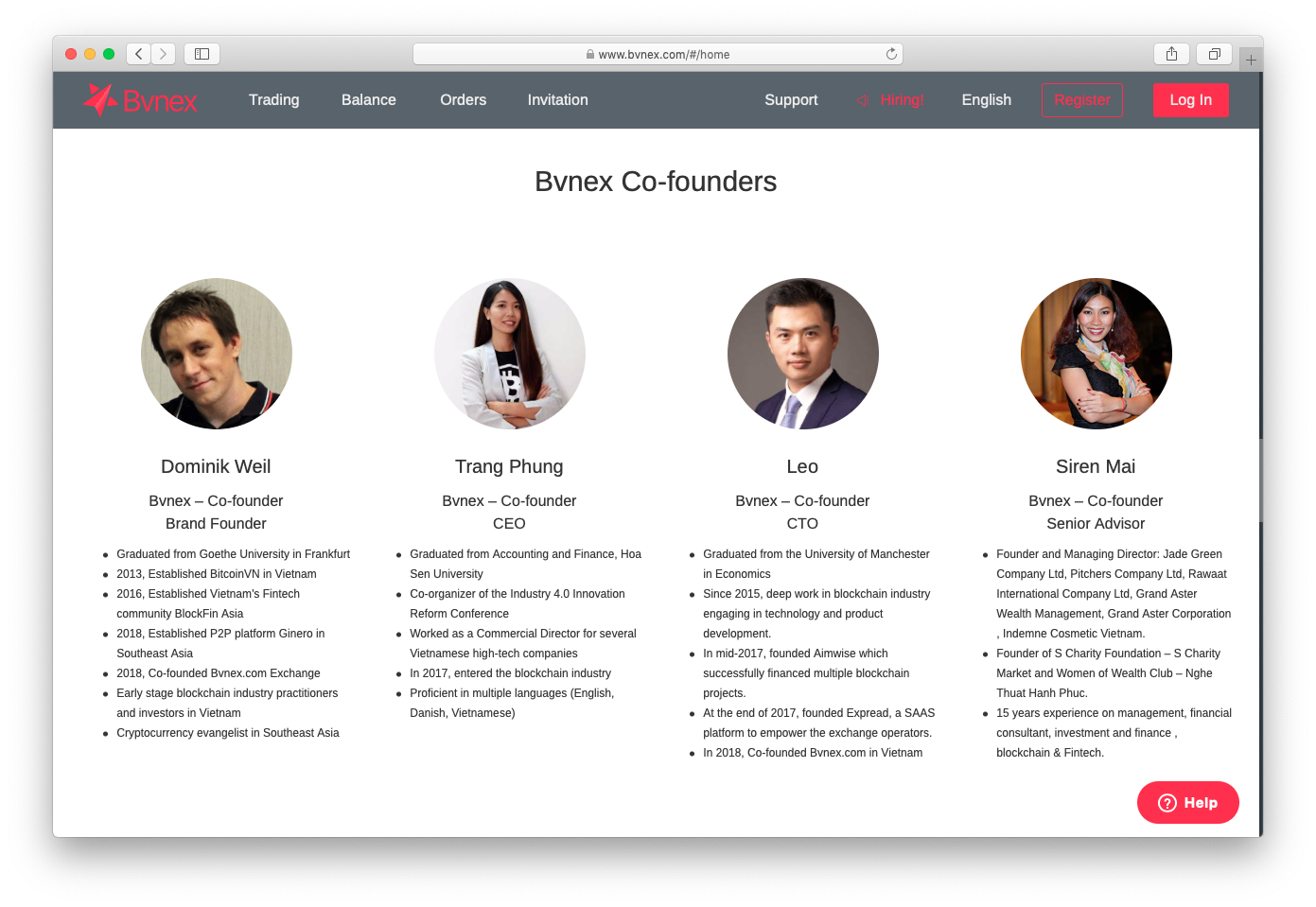 Dominik listed as one of the co-founders. Why wouldn't Bvnex take sole credit for what is solely their creation?