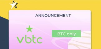 VBTC's announcement