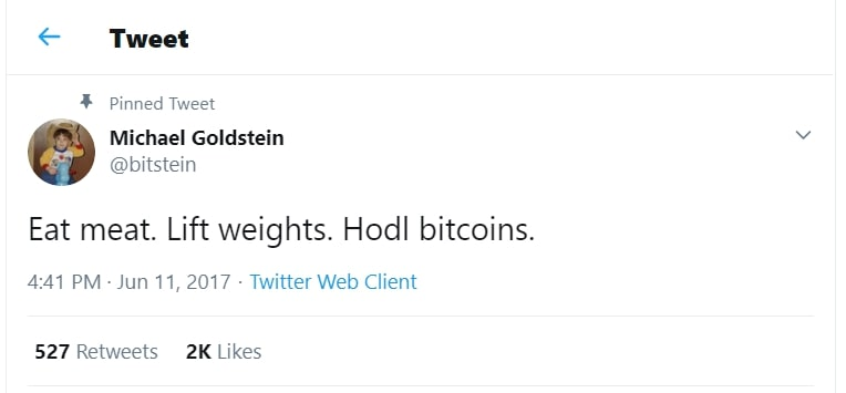 Michael Goldstein, President of the Nakamoto Institute, was one of the early Bitcoiners to propagate the Bitcoin carnivore movement