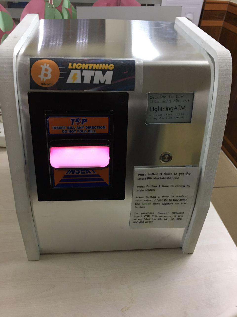 Eats Fiat, gives Sats. Asia's first Lightning ATM in Ho Chi Minh city.