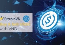 BitcoinVN listing USDC stablecoin for direct purchase/sale with Vietnamese Dong