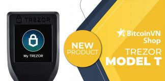 New Arrival: Trezor Model T now available in BitcoinVNShop