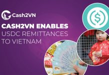 Cash2VN enables USDC remittances to Vietnam