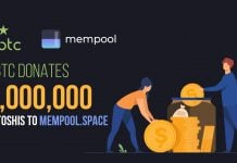 VBTC donates 1,000,000 Satoshis to Mempool.Space