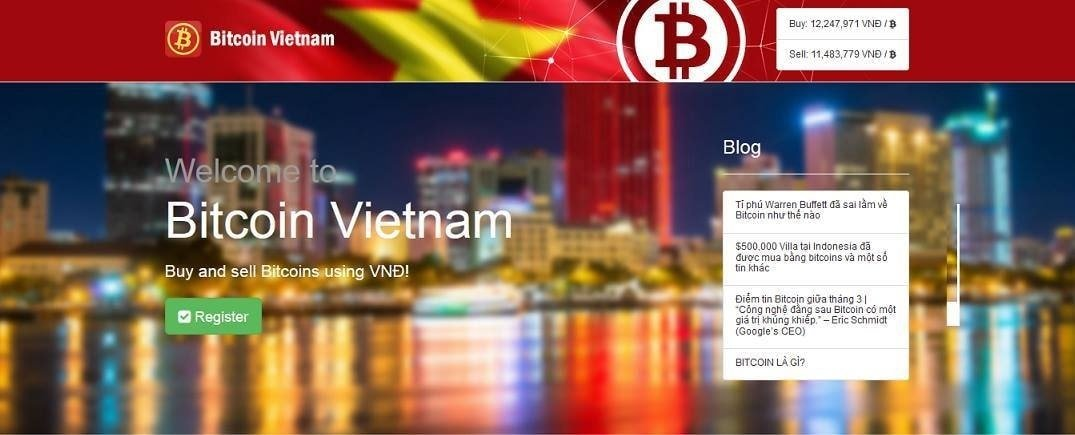The launch version of BitcoinVN in March 2014