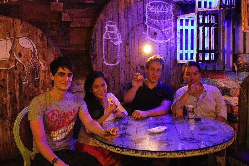 BitcoinVN Founders Alex Winter, Bao Phuong Nguyen, Dominik Weil and Phil Trinh