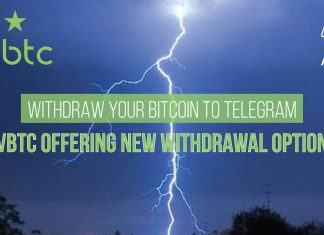 Withdraw your Bitcoin to Telegram - VBTC offering new withdrawal option